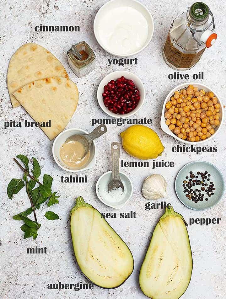 Fatteh ingredients