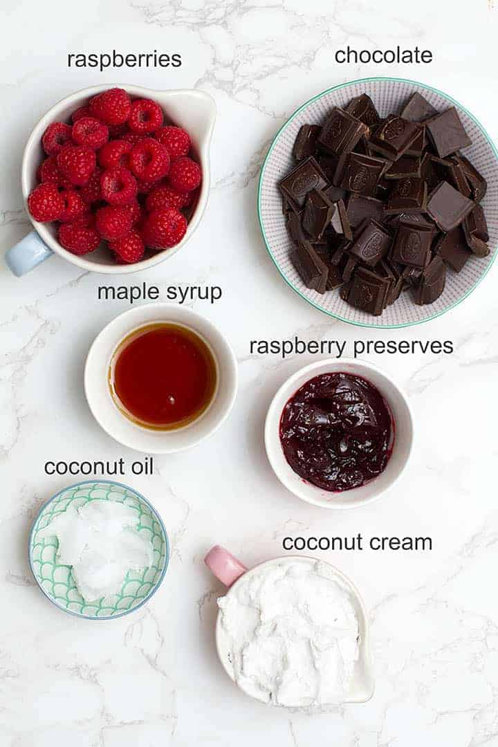 chocolate raspberry cups ingredients