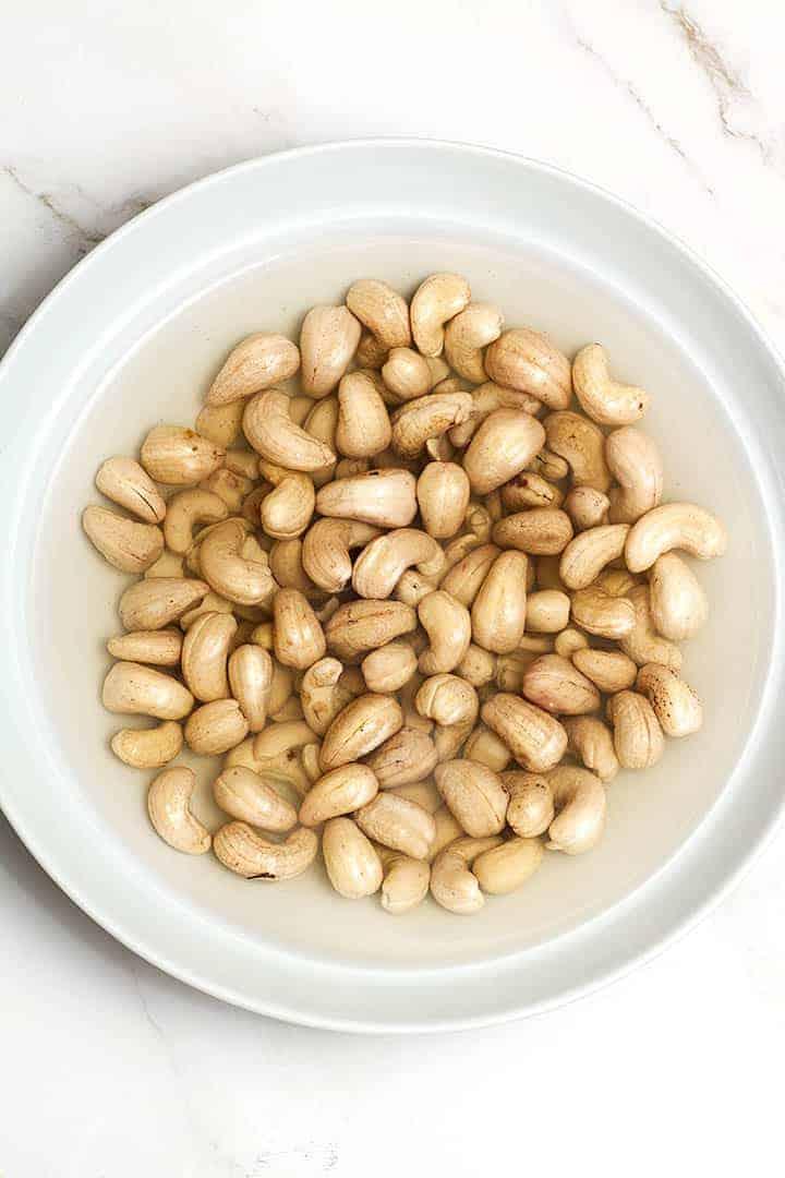 soaking cashews for vegan cheese sauce