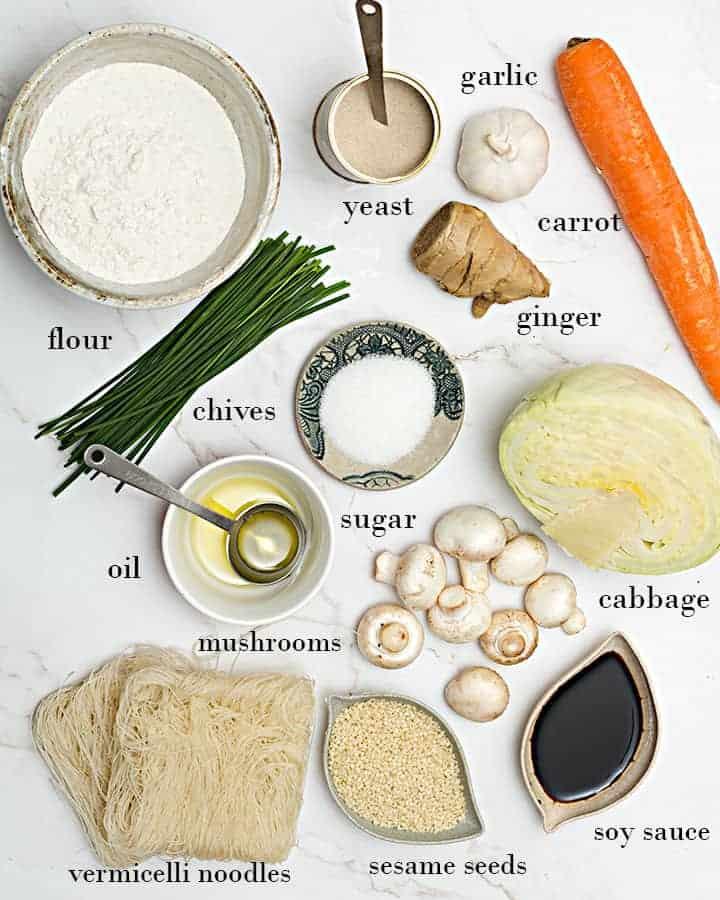 vegan dumplings ingredients