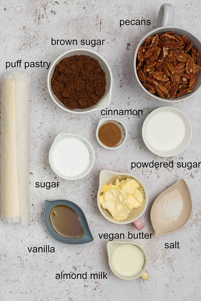 puff pastry cinnamon roll ingredients