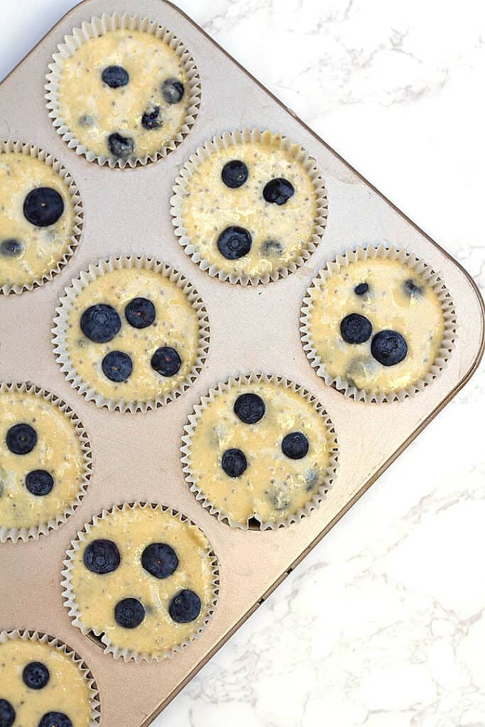 muffins in pan