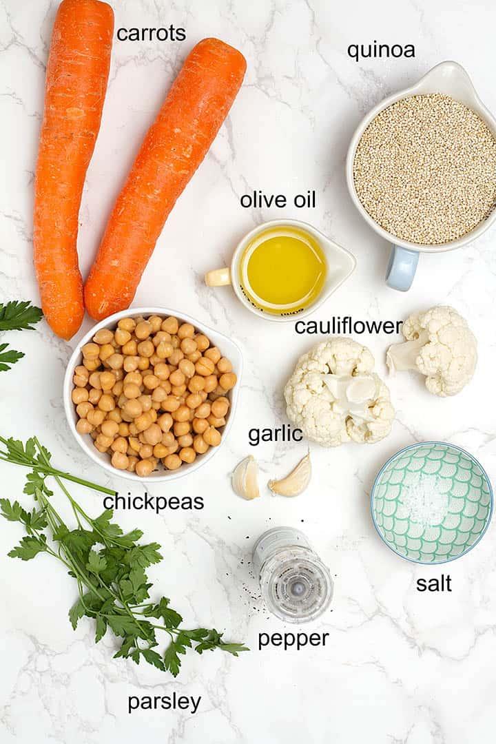 quinoa pilaf ingredients