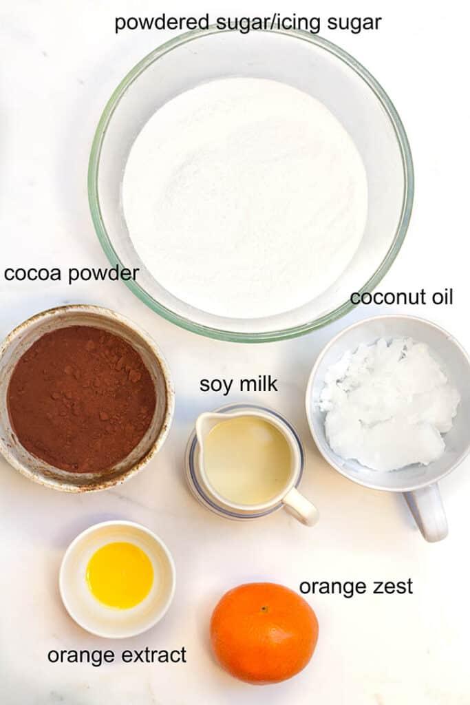 chocolate orange fudge ingredients