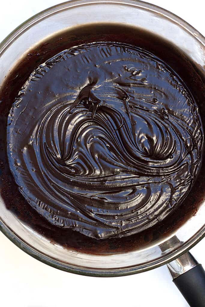 melting chocolate for vegan fudge