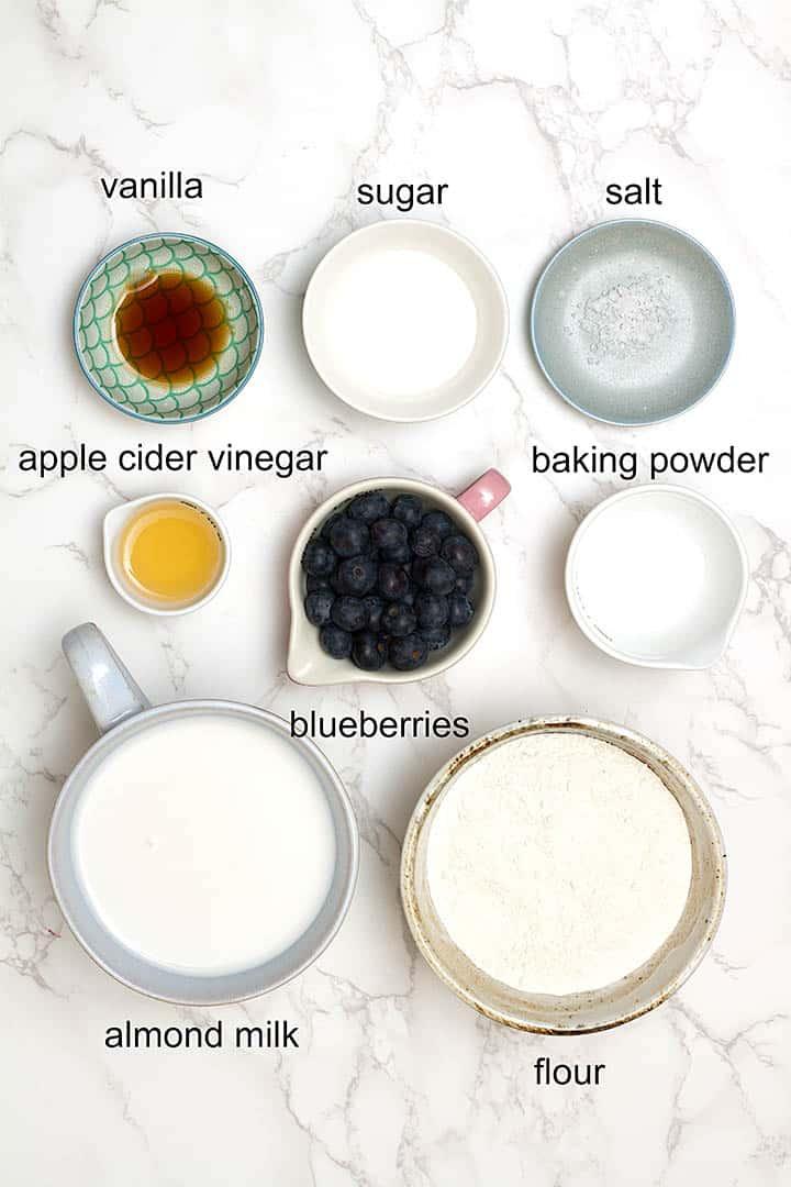 vegan pancake ingredients