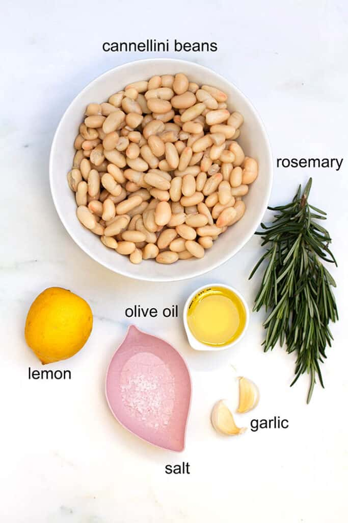 white refried beans ingredients