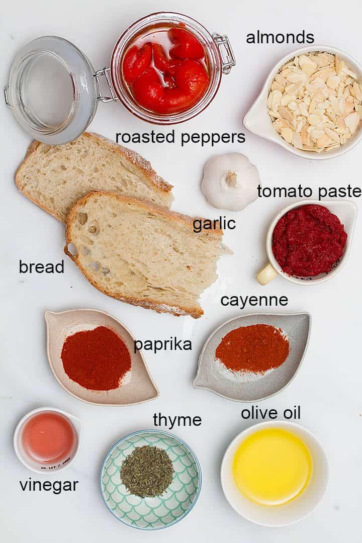ingredients in romesco sauce