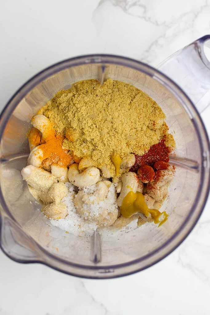 vegan cheese sauce in blender