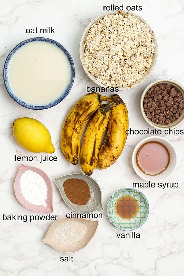 Tik Tok baked oats ingredients