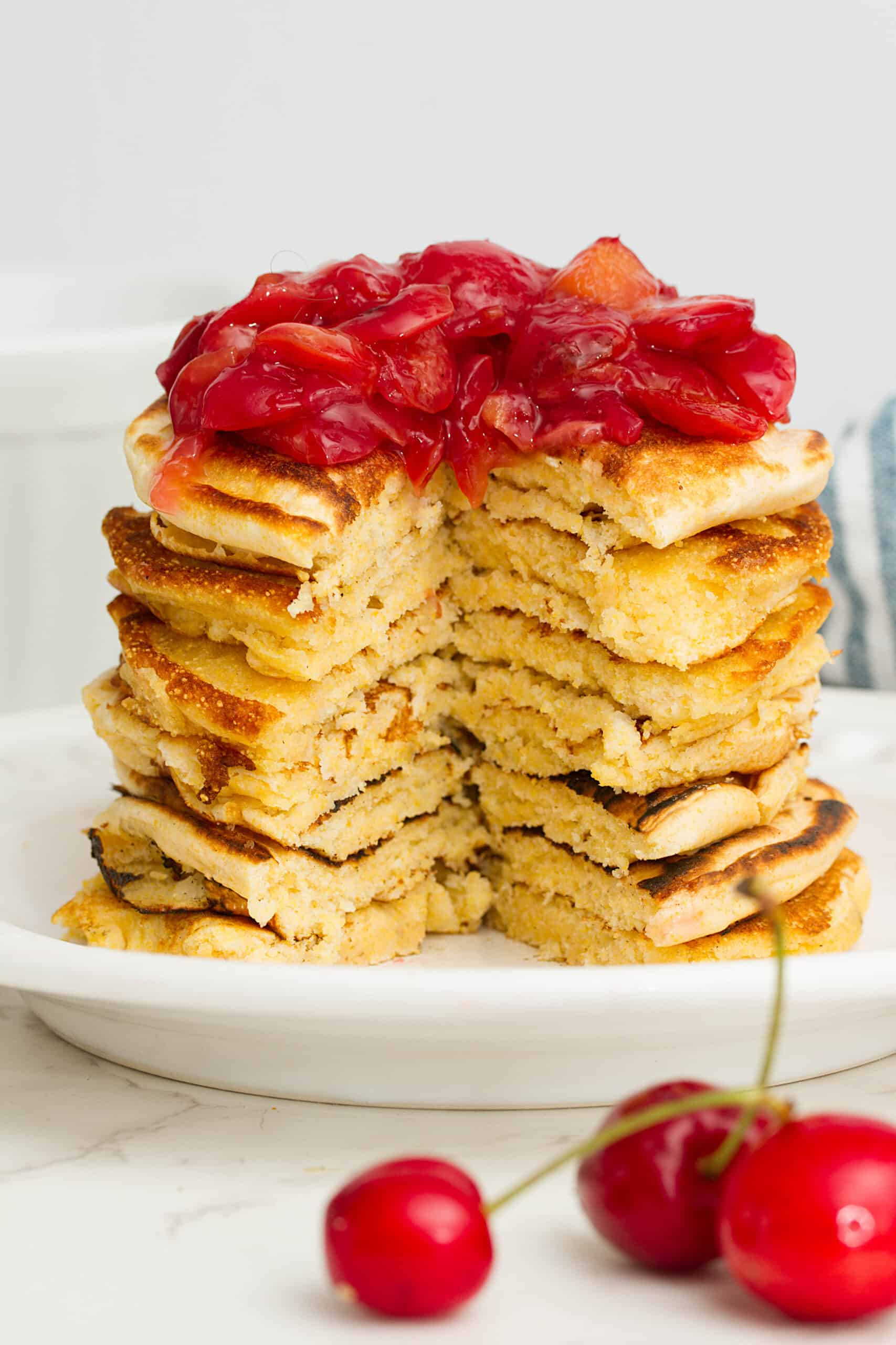vegan cornbread pancakes