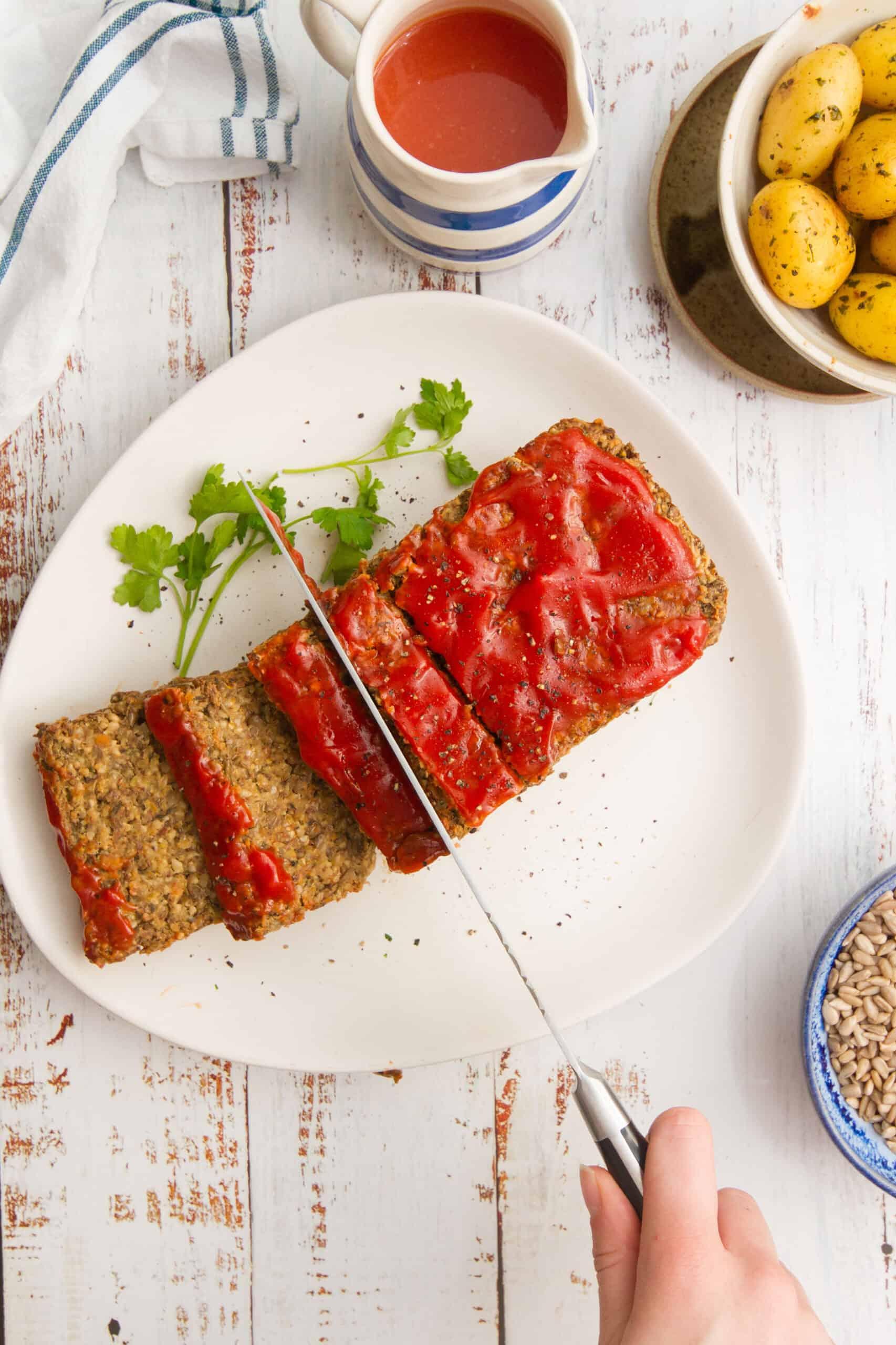easy vegan lentil meatloaf