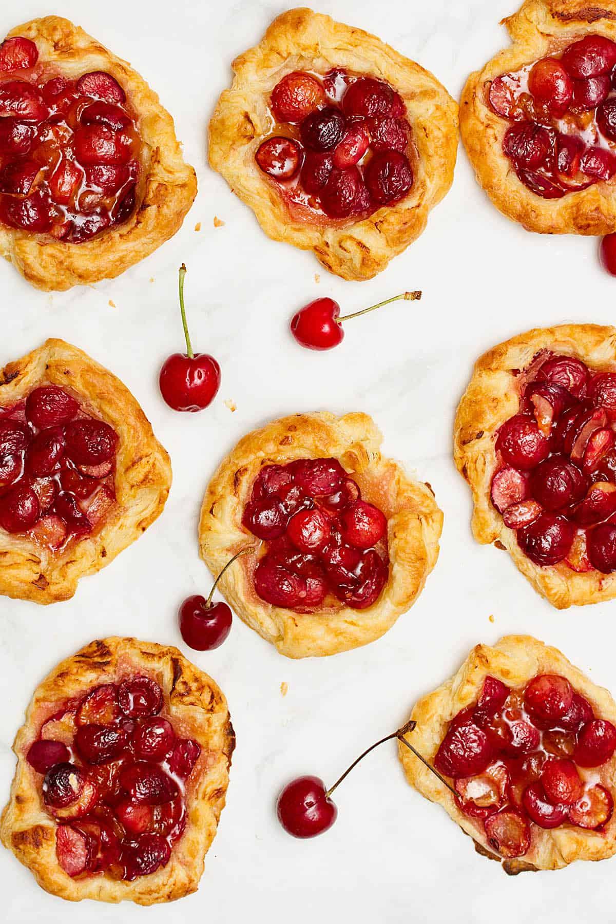 mini cherry galettes