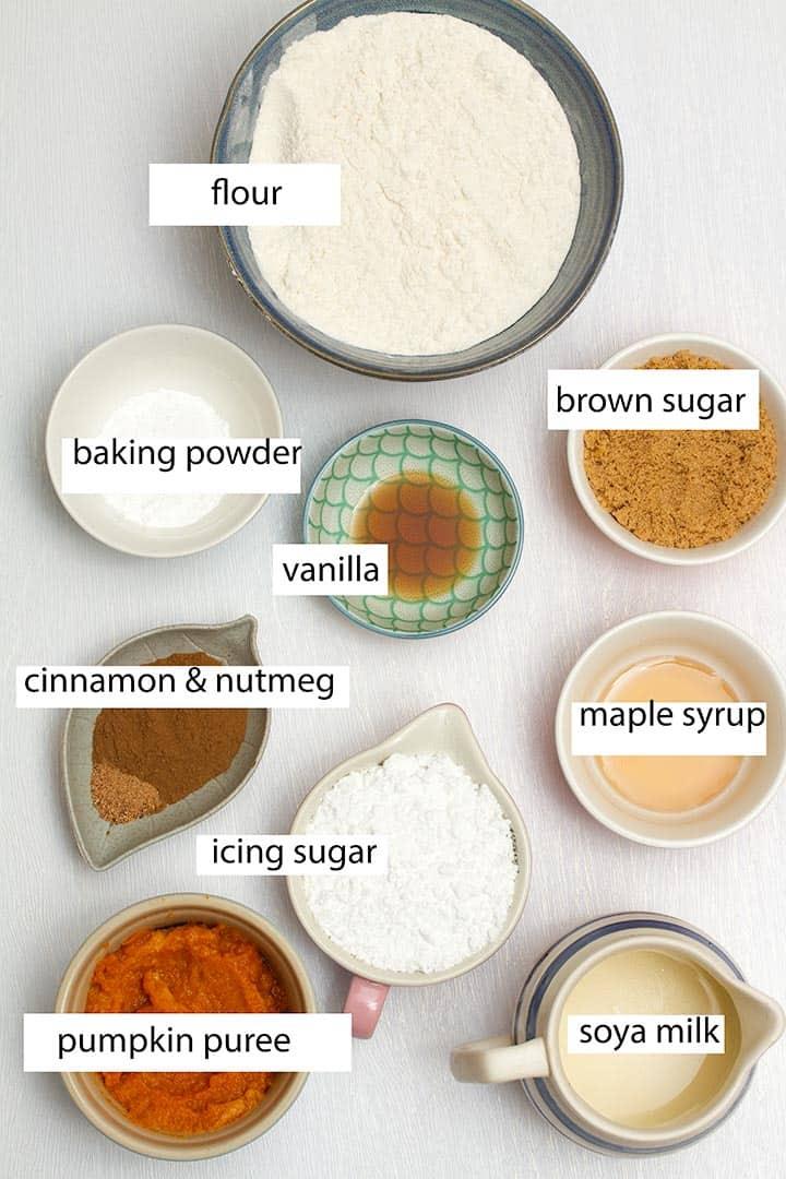 ingredients in vegan pumpkin scones that are Starbucks copycats