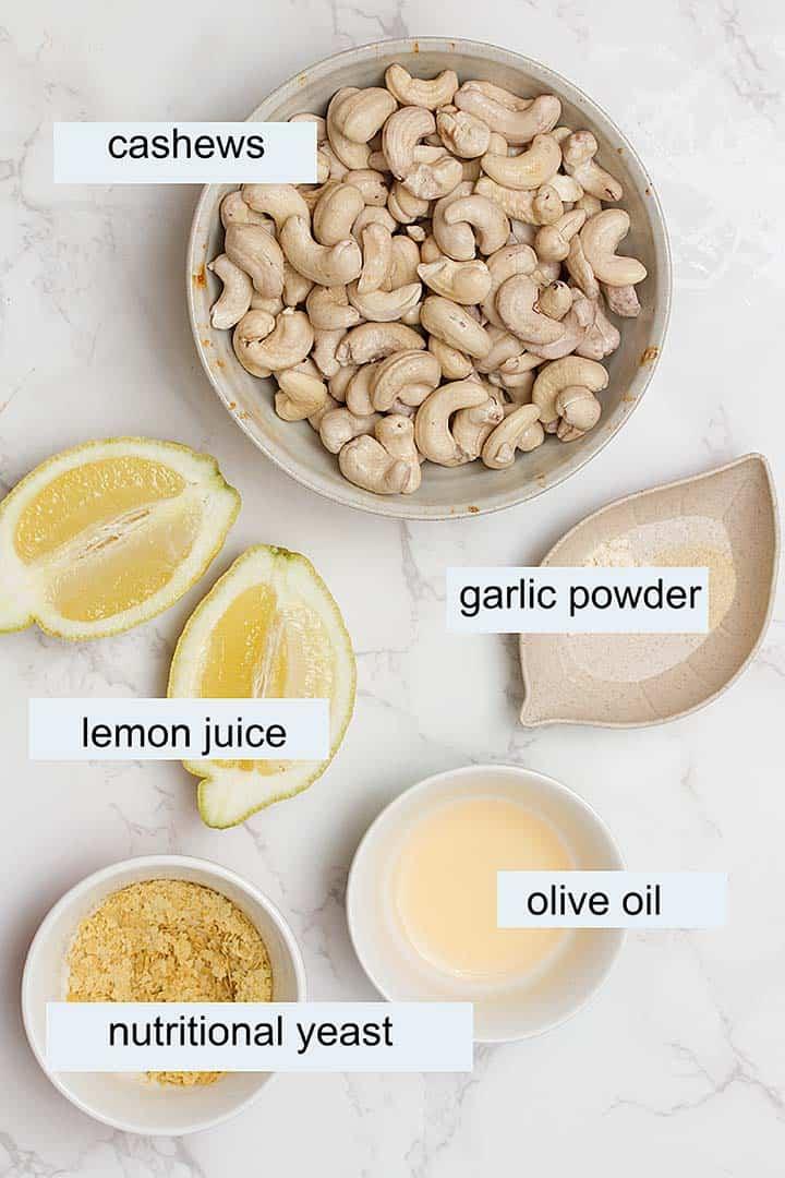 ingredients in vegan cream cheese