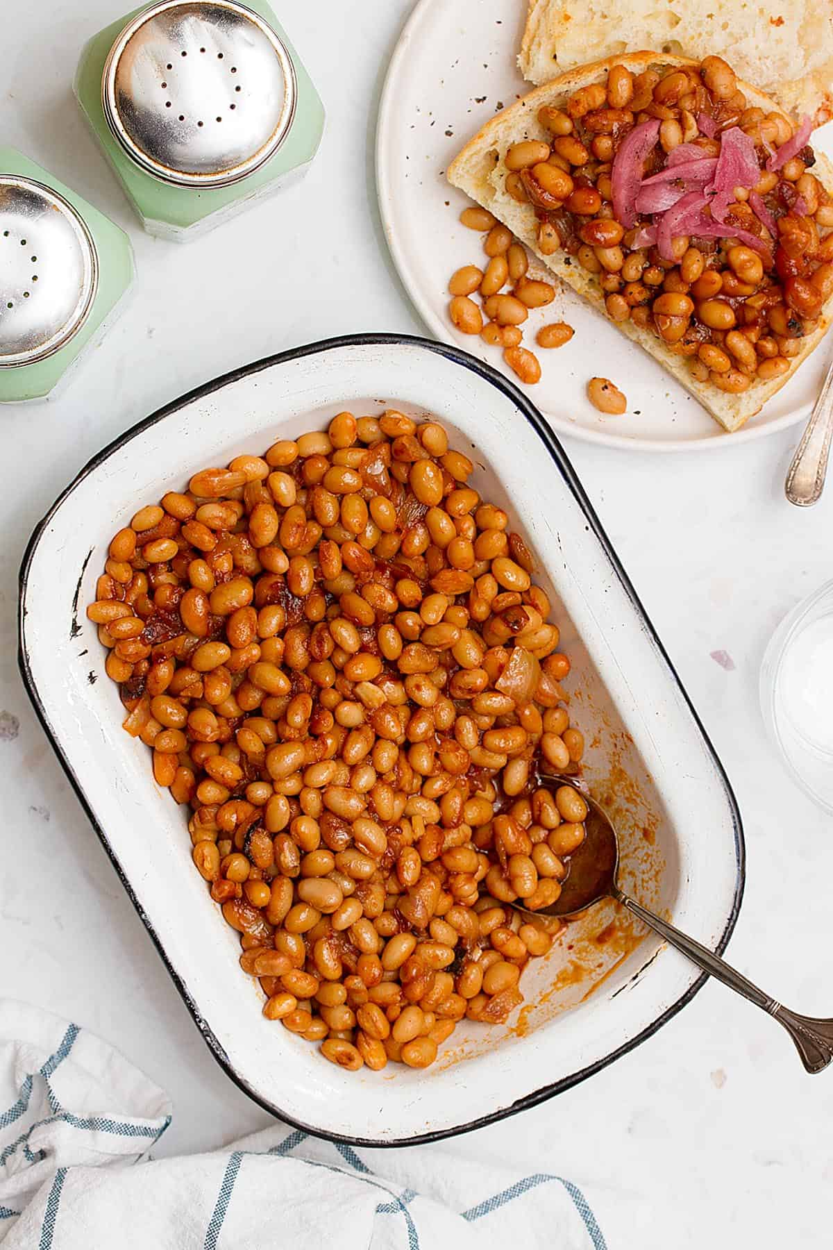 healthy baked beans no molasses and no sugar