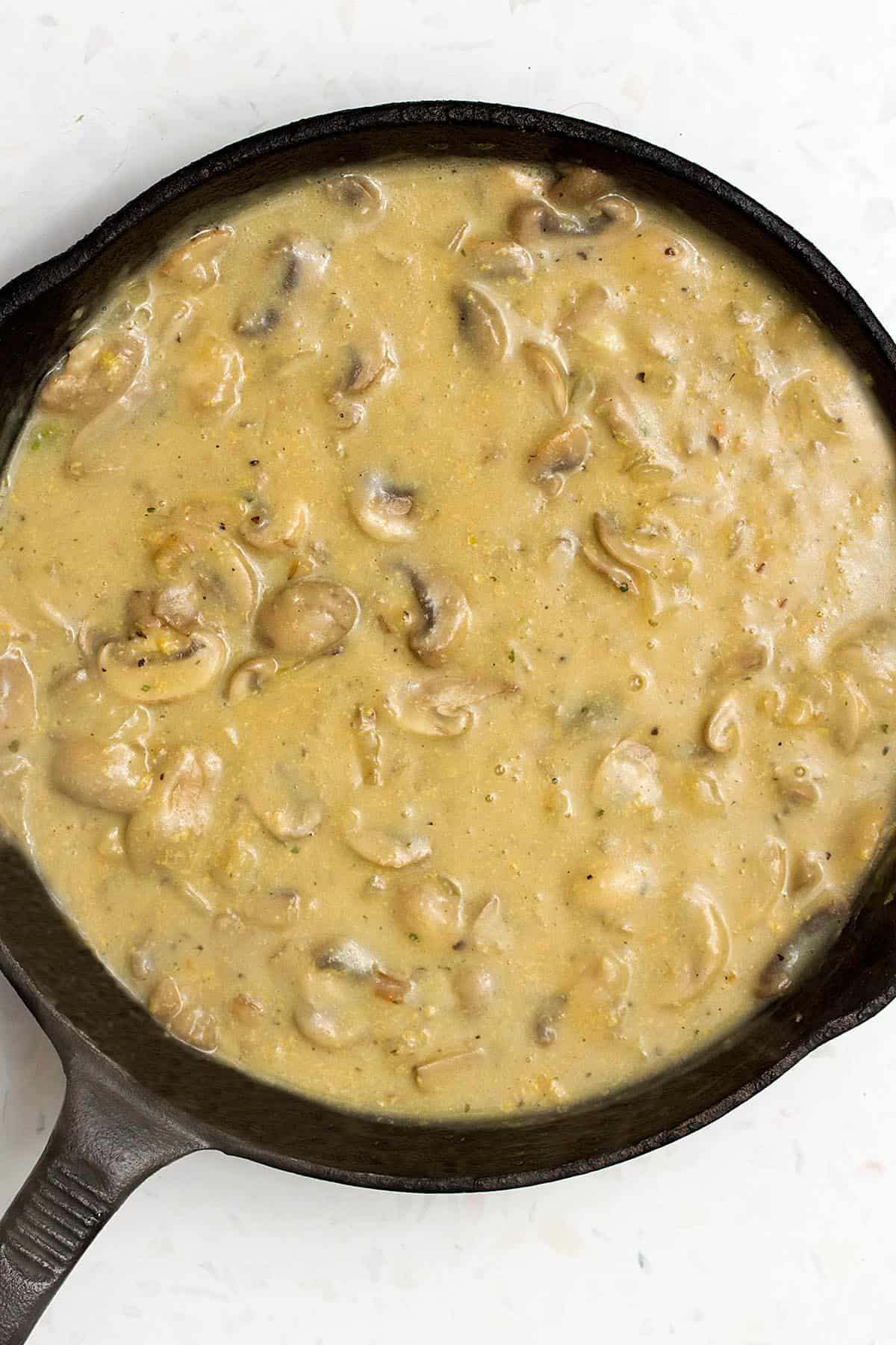 mushroom sauce for green bean casserole