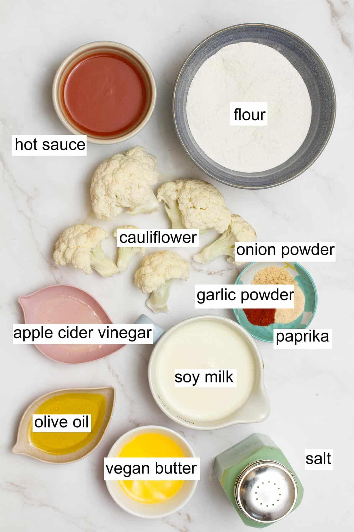 buffalo cauliflower wings ingredients