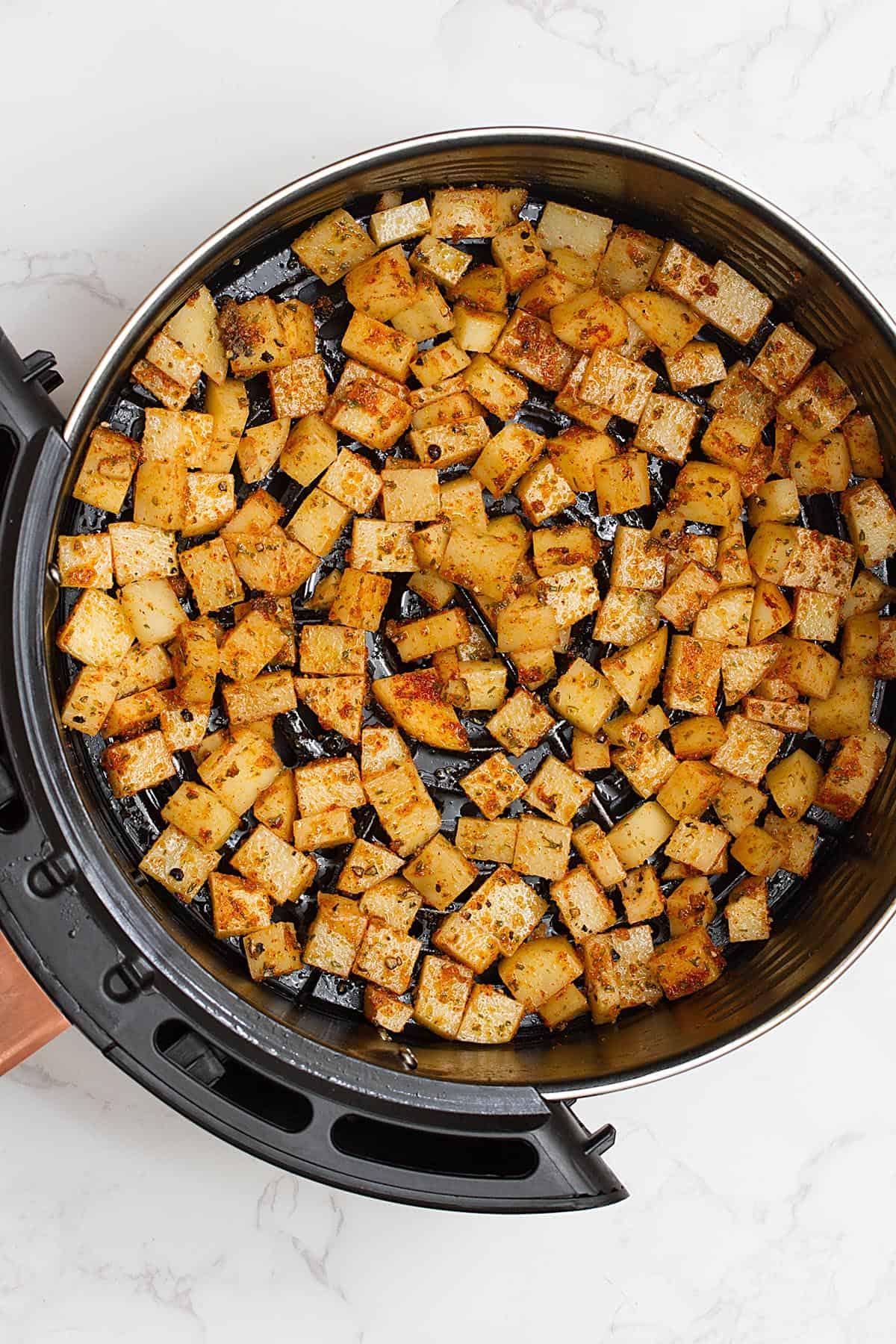 diced potatoes in air fryer