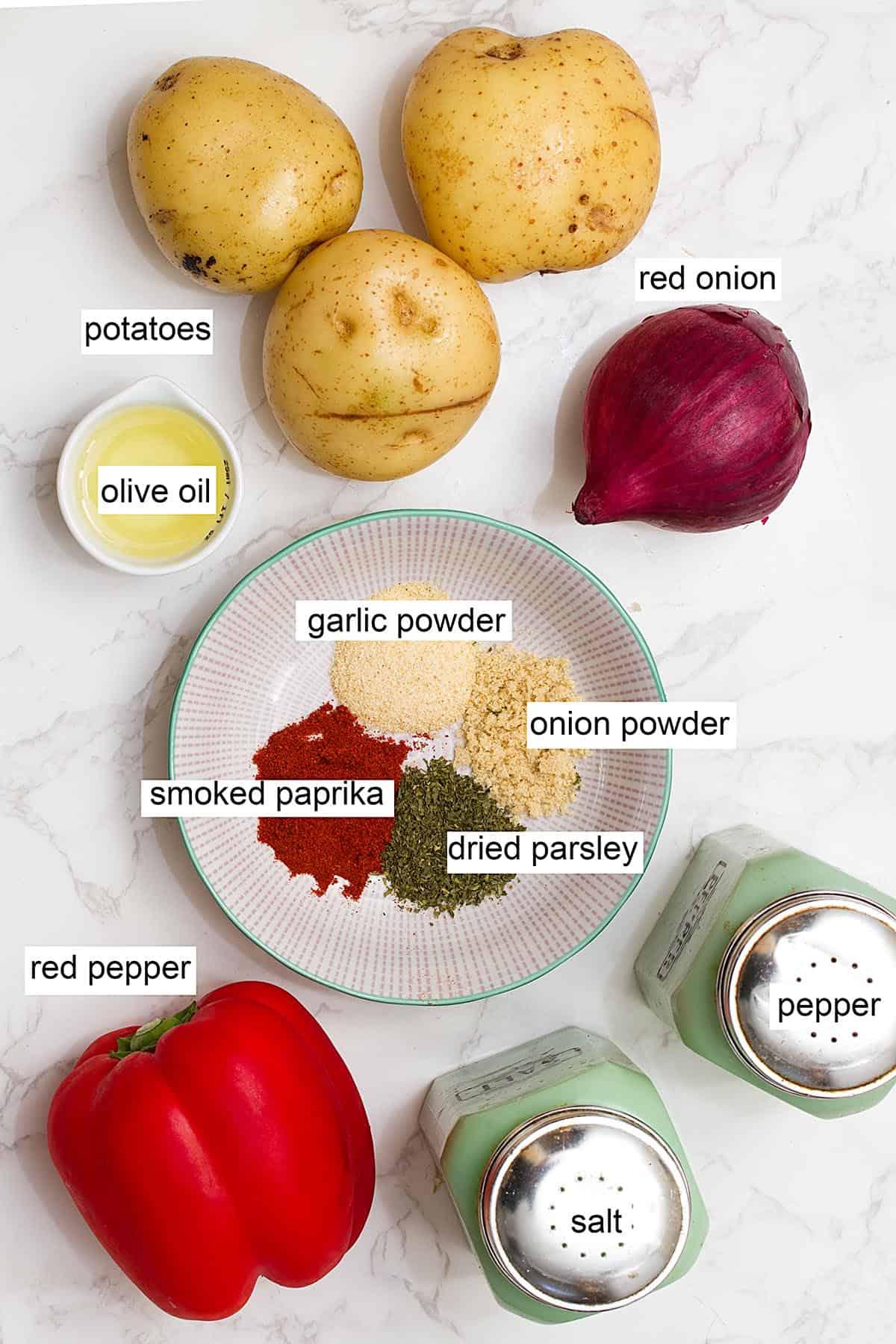 air fryer breakfast potatoes ingredients