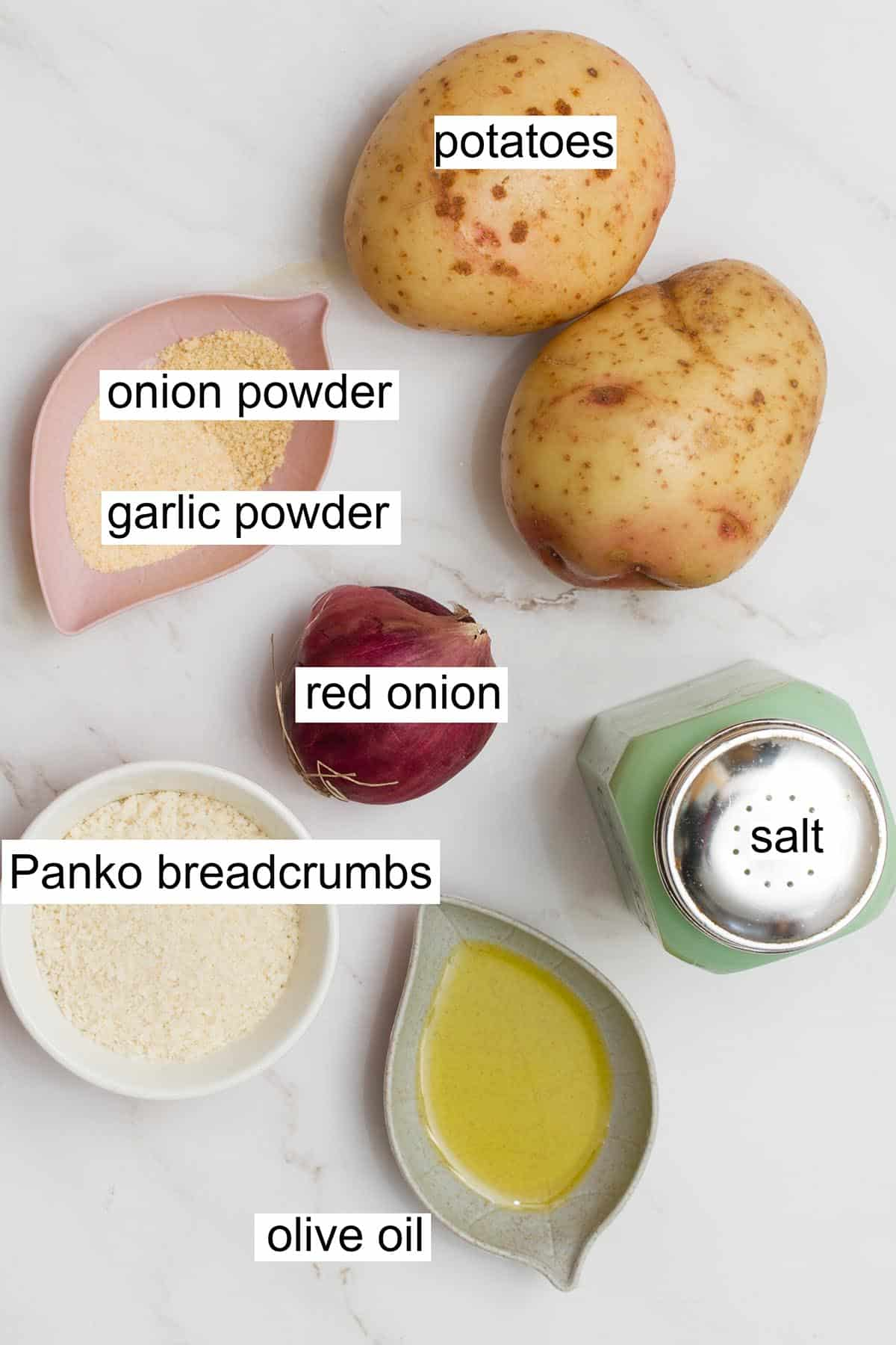 air fryer hashbrowns ingredients.