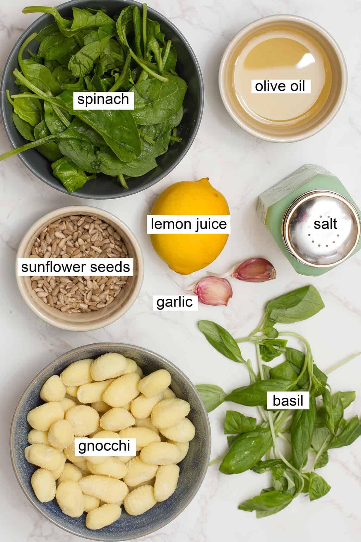 pan fried pesto gnocchi ingredients