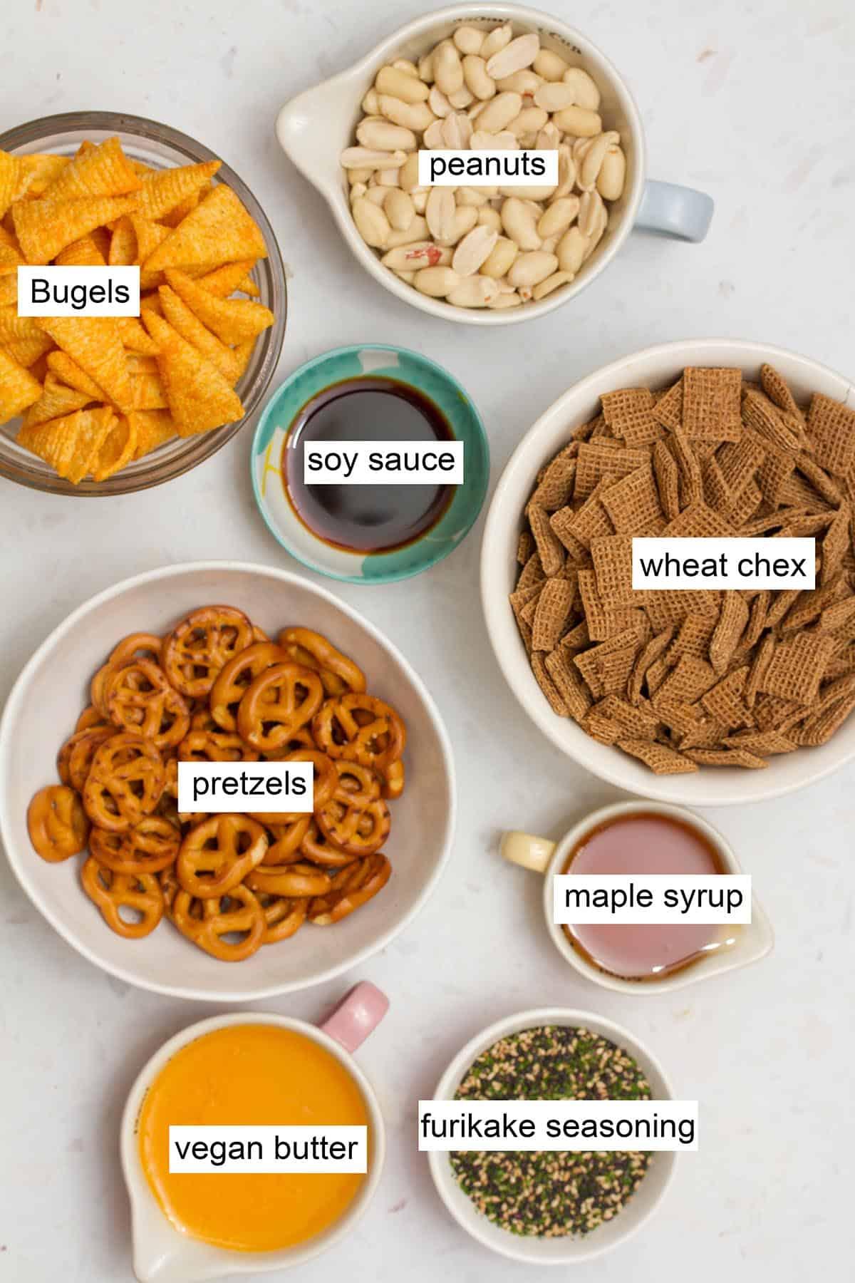 Furikaki snack mix ingredients