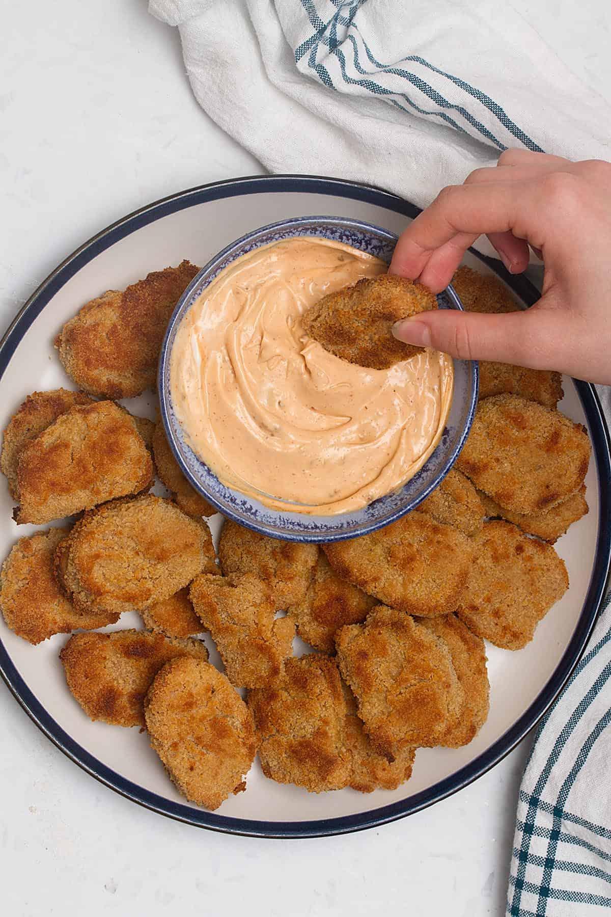 vegan chicken nuggets made from seitan