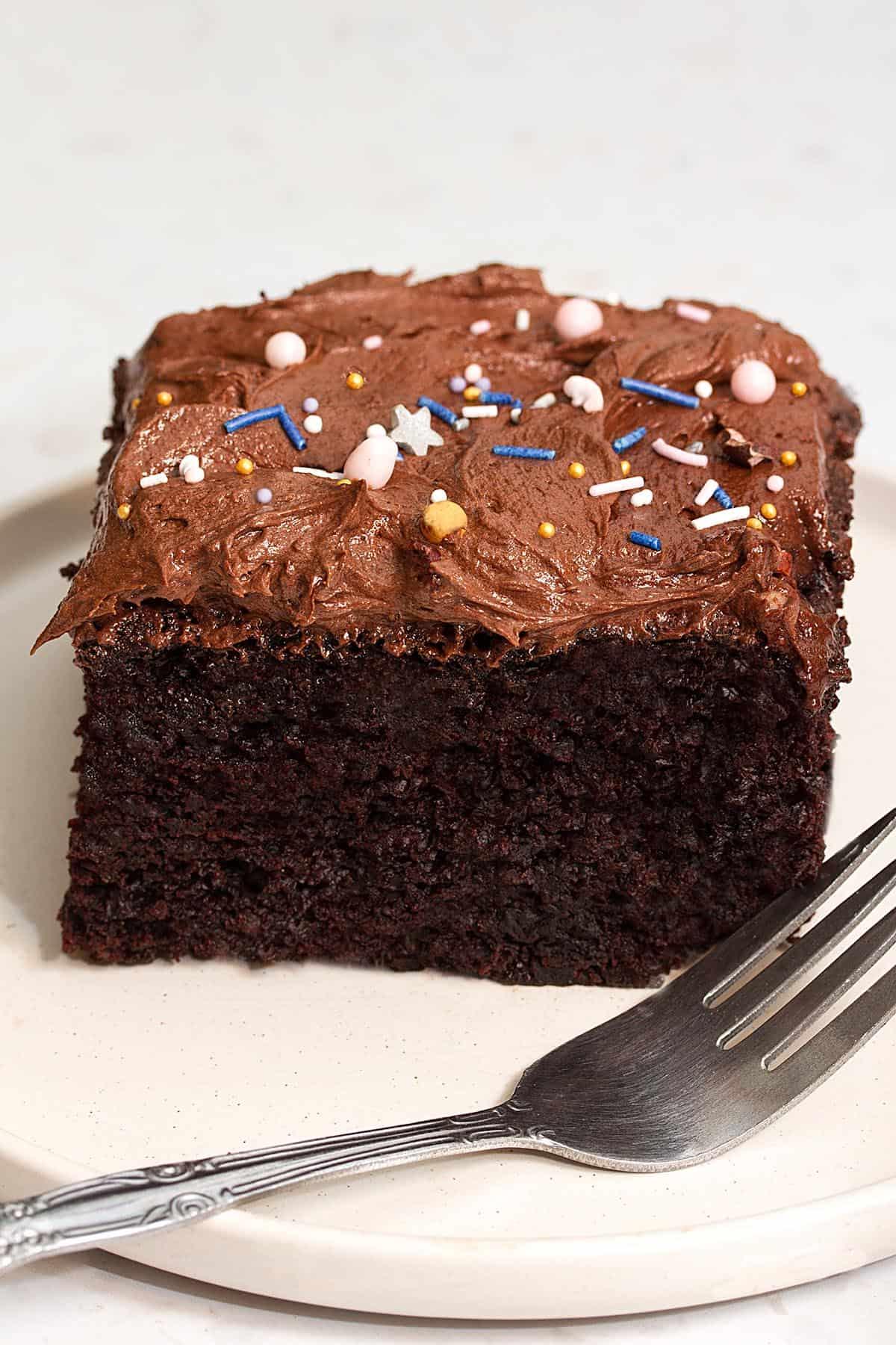 vegan chocolate sheet cake