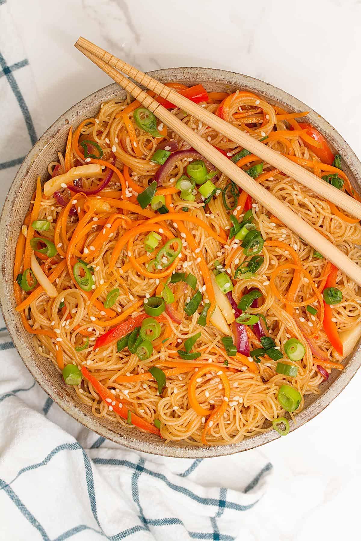 rice noodle stir fry