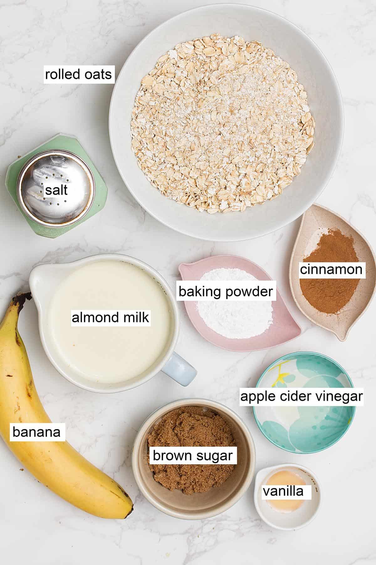 vegan banana waffles ingredients