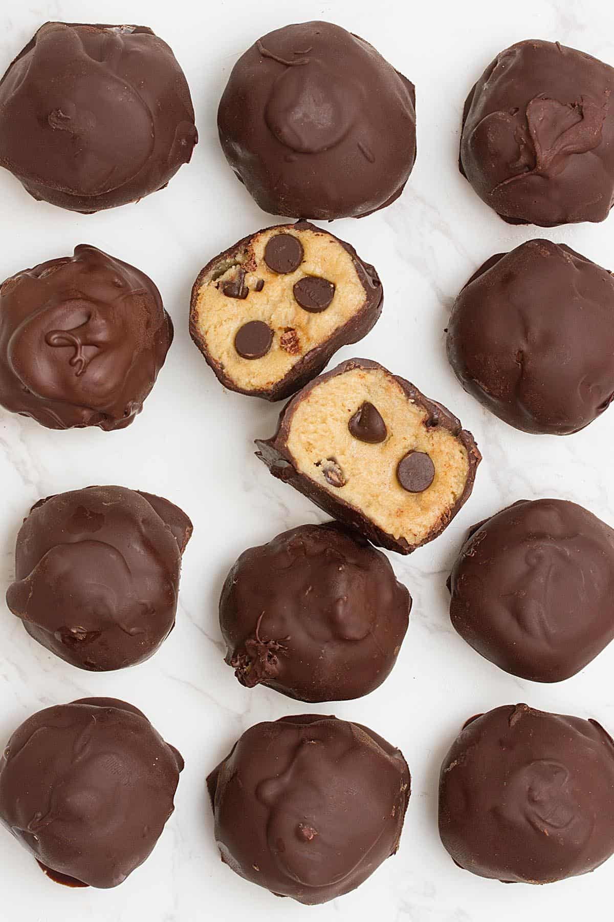 vegan cookie dough truffles